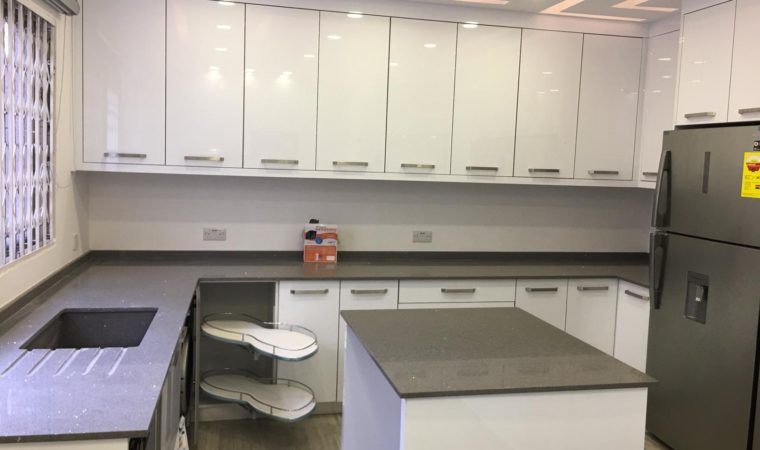 Finished White Gloss Kitchen Project
