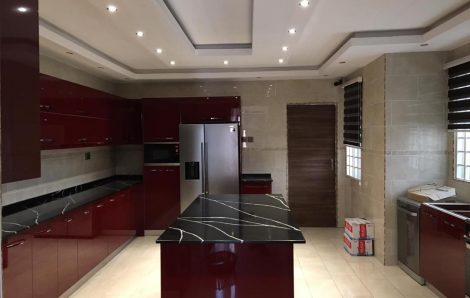 Finished Project:  Red Glossy Kitchen