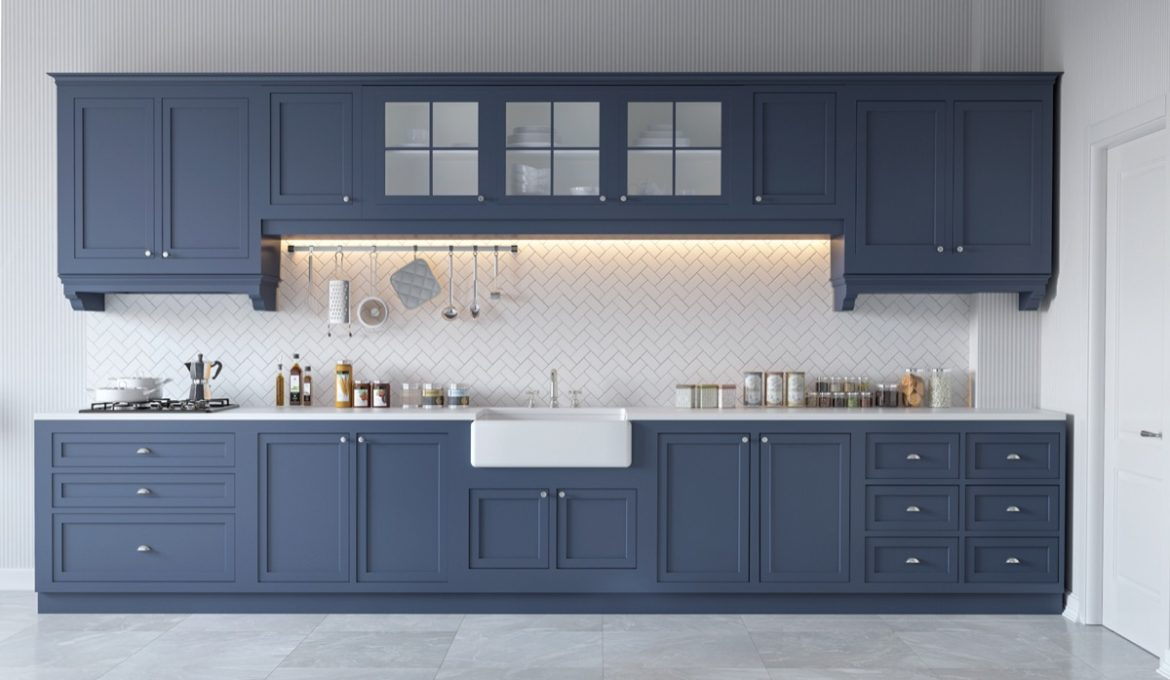 Blue-one-wall-kitchen