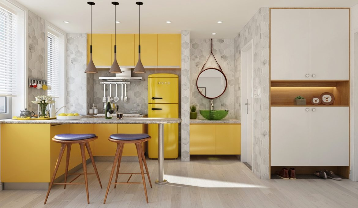 L-shaped-kitchen-with-breakfast-bar