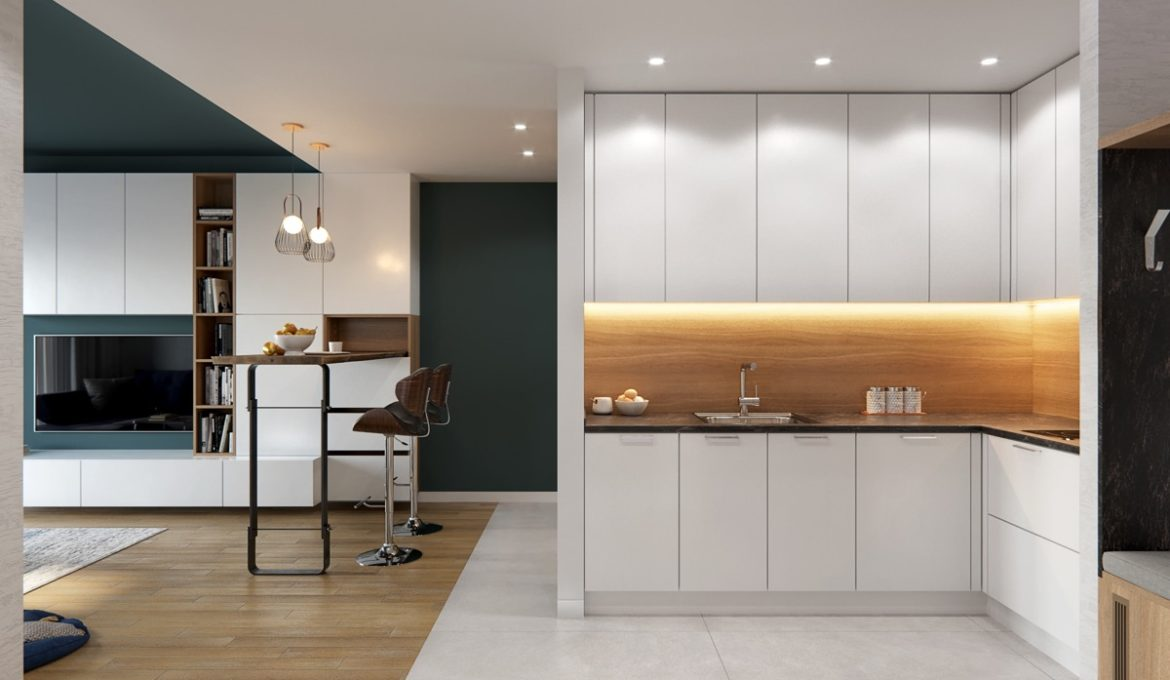 L-shaped-kitchen-with-dining-bar
