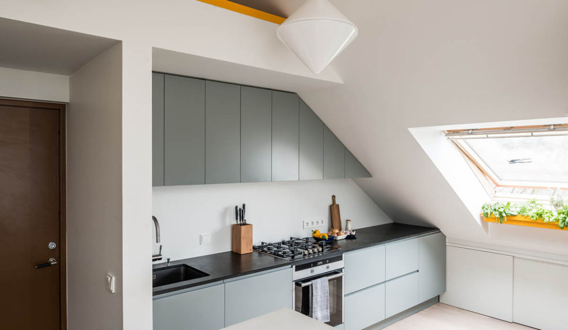 One-wall-kitchen-under-eaves