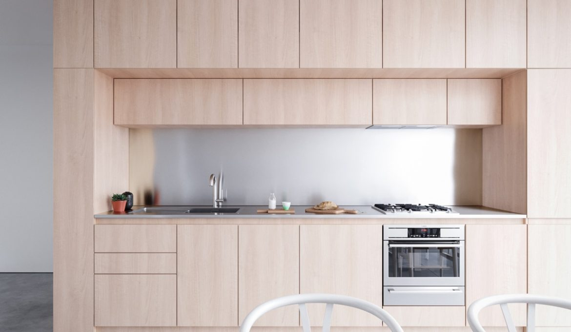 Wood-one-wall-kitchen-design